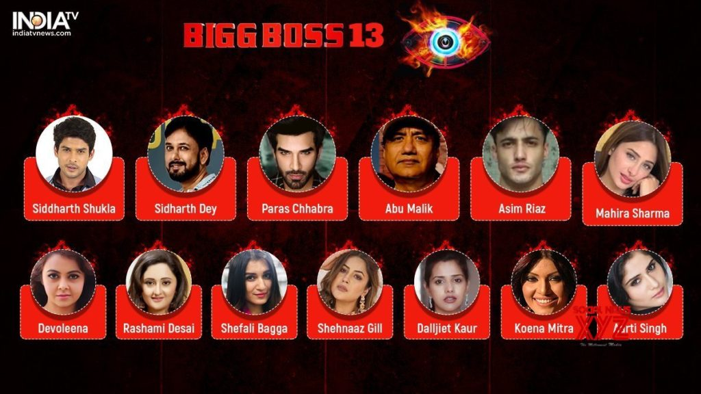 Bigg Boss 13 Contestants
