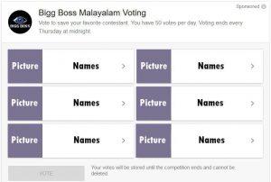 Bigg Boss Online Vote